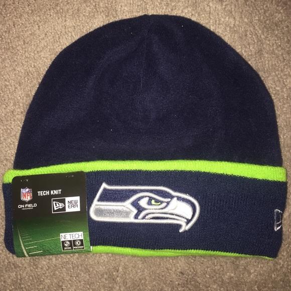 956b8561628 NFL Seattle Seahawks Era Beanie Cuffed Knit Hat